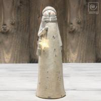Новогодний декор Снеговик со звездой, 30 см