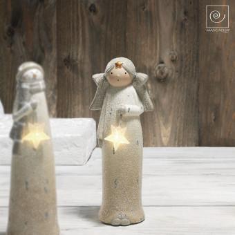 Новогодний декор Ангел со звездой, 24 см