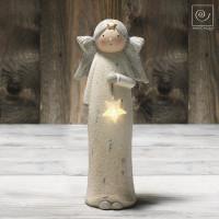Новогодний декор Ангел со звездой, 30 см
