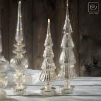 Новогодний декор Серебристая рождественская елка, 40 см