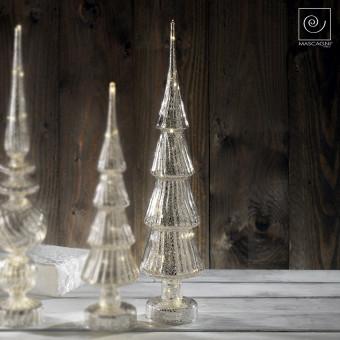 Новогодний декор Серебристая рождественская елка, 50 см