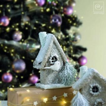 Новогодний декор Домик, 25 см