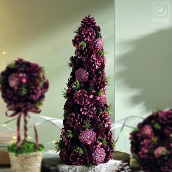Новогодний декор Ель из шишек, 48 см