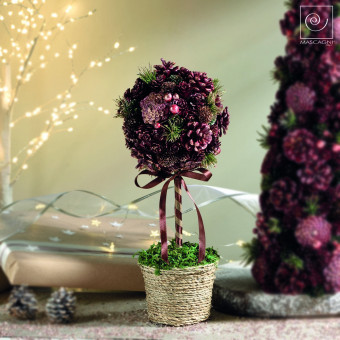Новогодний декор Декоративное дерево в горшке, 38 см