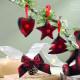 Новогодний декор Набор из 4 подвесок в красную клетку
