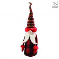 Новогодний декор Санта Клаус в красную клетку, 41 см
