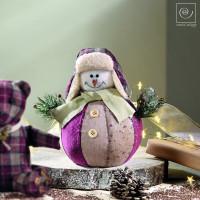Новогодний декор Снеговик, 21 см