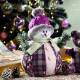 Новогодний декор Снеговик, 30 см
