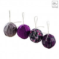 Новогодний декор Набор из 4 шариков, d6,5 см