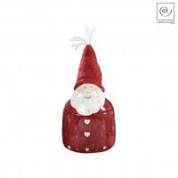 Новогодняя банка для сладостей Дед мороз красная, 20 см