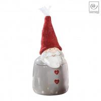 Новогодняя банка для сладостей Дед мороз серая, 27 см
