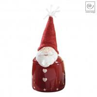 Новогодняя банка для сладостей Дед мороз красная, 27 см