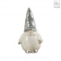 Новогодний декор Санта Клаус с серебристой шапкой, 23,5 см