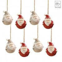 Новогодний декор Набор из 8 подвесок Санта Клаус