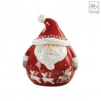 Новогодний декор Банка для сладостей Санта Клаус, 18,2 см