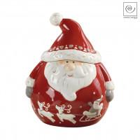 Новогодний декор Банка для сладостей Санта Клаус, 21,2 см