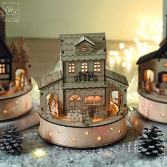 Новогодний декор Декоративный дом Поезд