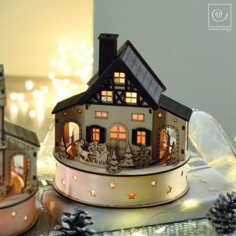 Новогодний декор Декоративный дом Санки