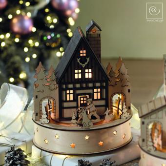 Новогодний декор Декоративный дом Карусель