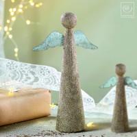 Новогодний декор Набор из 3 ангелочков, золотистые