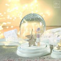 Новогодний декор Стеклянный шар с ангелом, 17 см