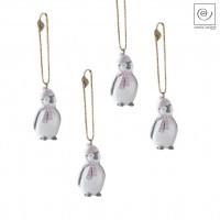 Новогодний декор Набор подвесок 4 пингвина