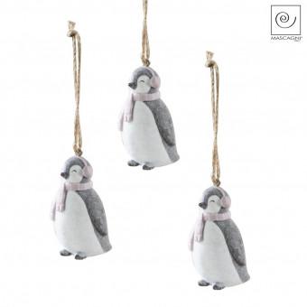 Новогодний декор Набор подвесок 3 пингвина