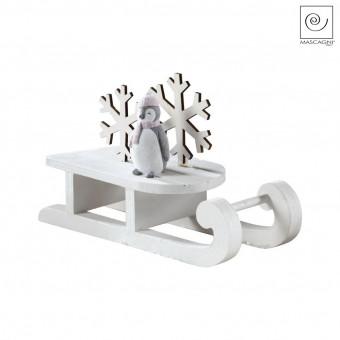 Новогодний декор Пингвин на санках