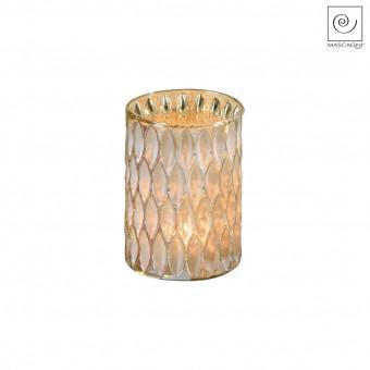 Новогодний декор Золотистый подсвечник, 14 см