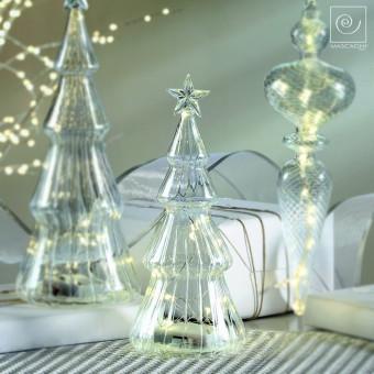 Новогодний декор Стеклянная Led-ель со звездой, 22,5 см