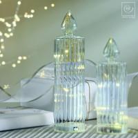 Новогодний декор Стеклянная Led-свеча, 25 см