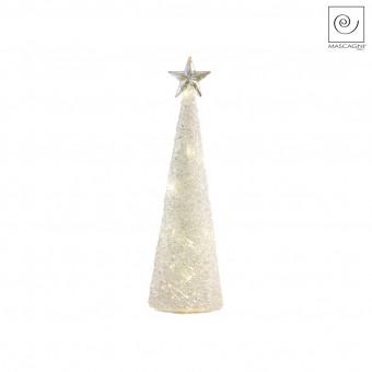 Новогодний декор Стеклянная Led-ель матовая, 25,5 см