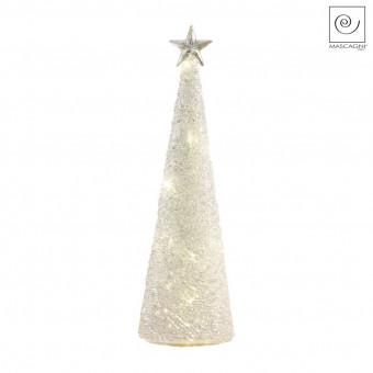 Новогодний декор Стеклянная Led-ель матовая, 32 см