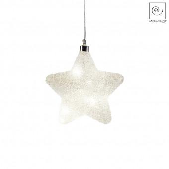 Новогодний декор Led-подвеска звезда, 16 см