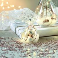 Новогодний декор Стеклянный Led-ангел, 9,5 см