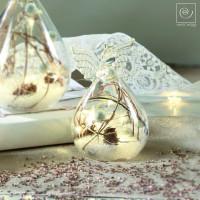 Новогодний декор Стеклянный Led-ангел, 11,5 см