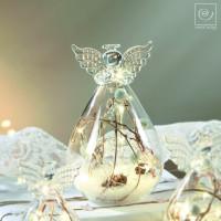 Новогодний декор Стеклянный Led-ангел, 15 см