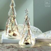 Новогодний декор Стеклянная Led-ель, 23,5 см