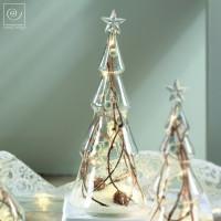 Новогодний декор Стеклянная Led-ель, 28,5 см