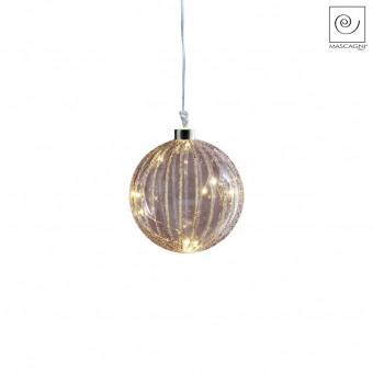 Новогодний декор Елочный Led-шарик фиолетовый, d10 см