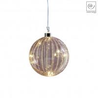 Новогодний декор Елочный Led-шарик фиолетовый, d15 см