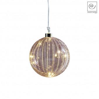 Новогодний декор Елочный Led-шарик фиолетовый, d12 см