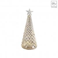 Новогодний декор Стеклянная Led-ель золотистая, 19,5 см