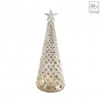 Новогодний декор Стеклянная Led-ель золотистая, 24 см