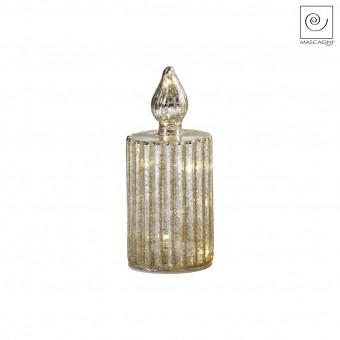 Новогодний декор Led-свеча золотистая, 20 см