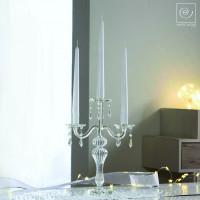 Новогодний декор Стеклянный подсвечник на 3 свечи