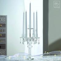 Новогодний декор Стеклянный подсвечник на 5 свечей