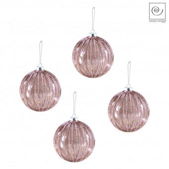 Новогодний декор Набор из 4 елочных шаров