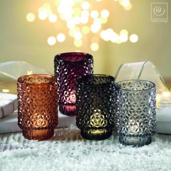 Новогодний декор Набор из 4 высоких подсвечников