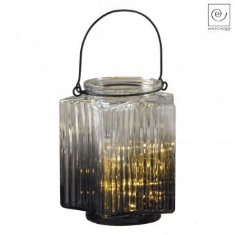 Новогодний декор Серый фонарь, 16 см